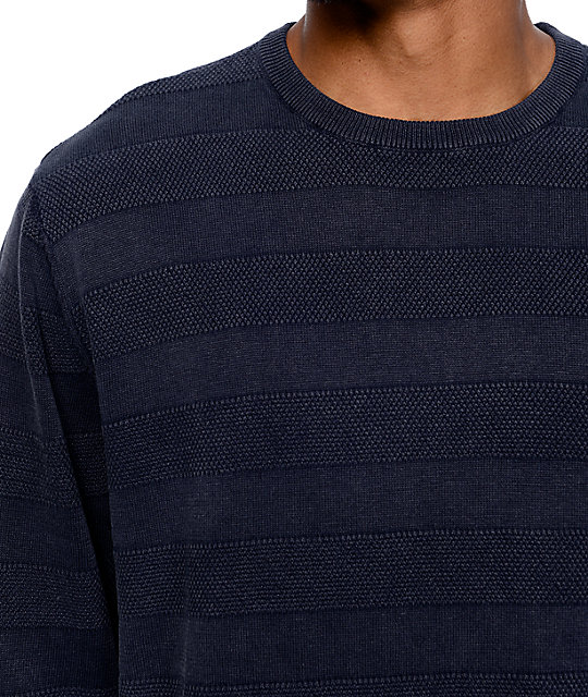 Altamont Polly Texture Stripe Faded Black Sweater