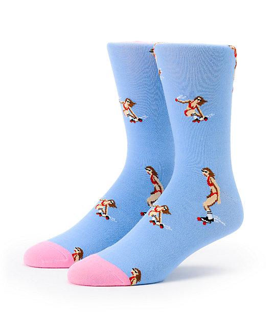Altamont Skatebirds Blue Crew Socks