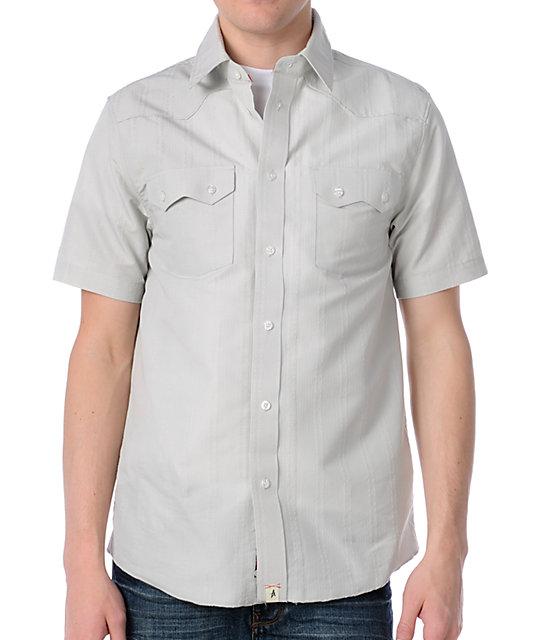 Altamont Slinger Grey  Woven Shirt