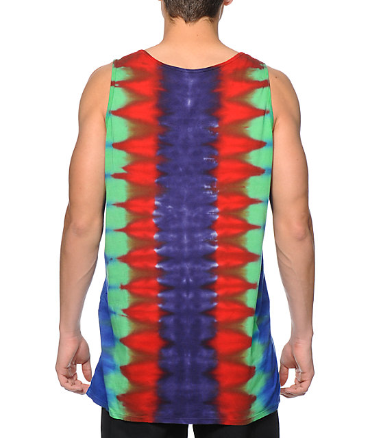 Altamont Thermal Rays Tie Dye Tank Top