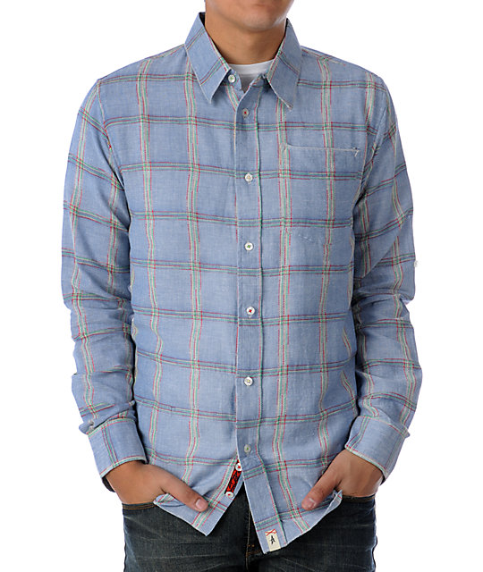 Altamont Wailor Blue Plaid Woven Shirt