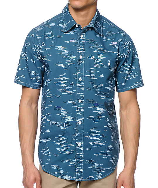 Altamont Wavy Button Up Shirt