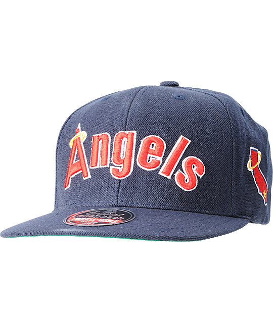 American Needle 2nd Skin Cooperstown Angels Snapback Hat