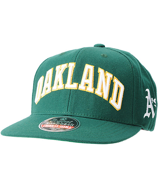 American Needle 2nd Skin Cooperstown Oakland As Snapback Hat