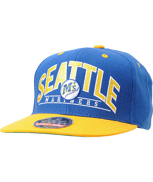 American Needle Mariners Arched Blue Snapback Hat