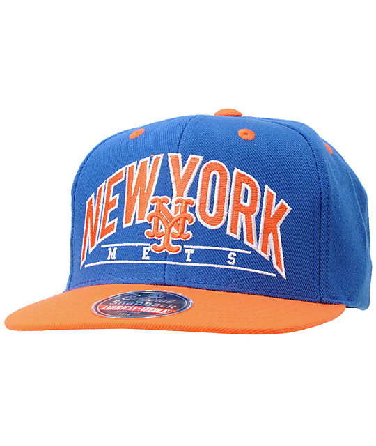 American Needle Mets Arched Blue Snapback Hat