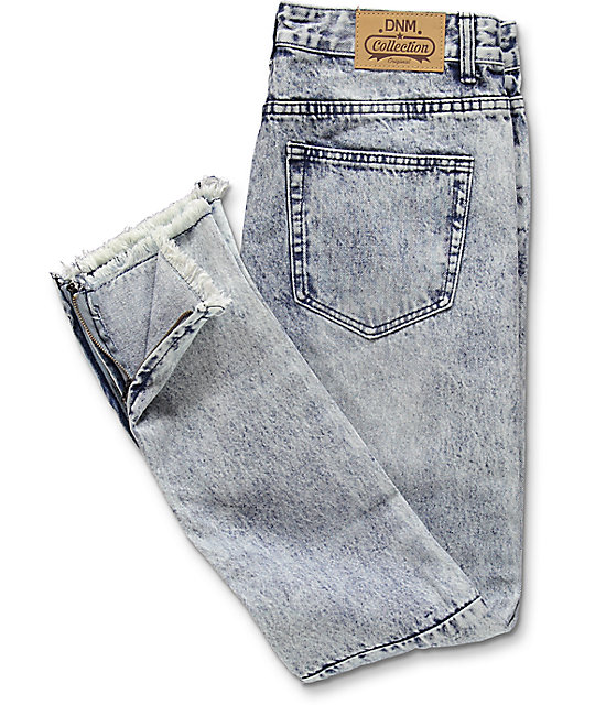 American Stitch Denim Collection Light Blue Acid Wash Ripped Denim Jeans