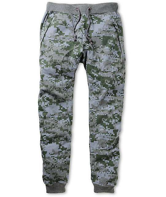 American Stitch Grey Digital Camo Jogger Sweatpants