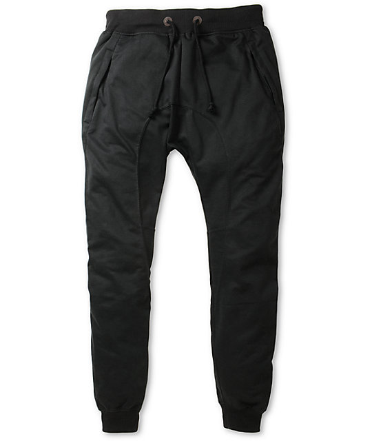 Perfect Empyre Mattia Black Twill Seam Jogger Pants