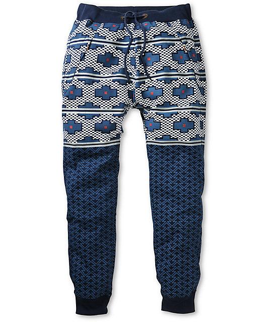 American Stitch Harem Tetris Blue Jogger Sweatpants