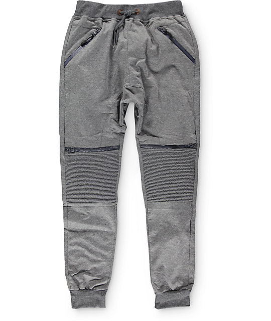 American Stitch Knit Moto Zip Jogger Pants