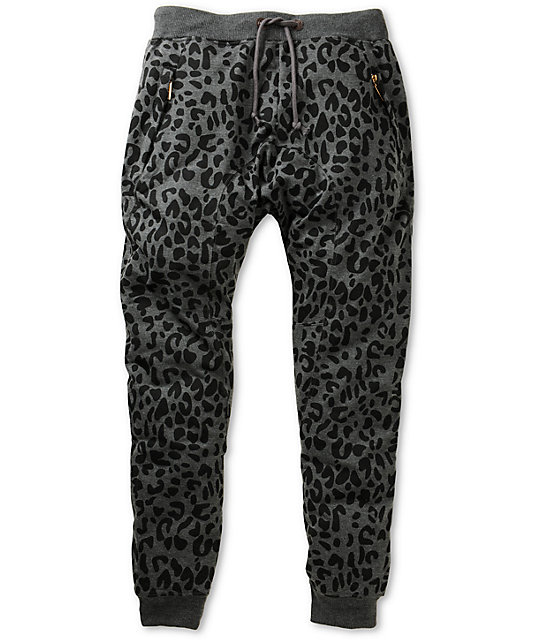 American Stitch Leopard Jogger Sweatpants