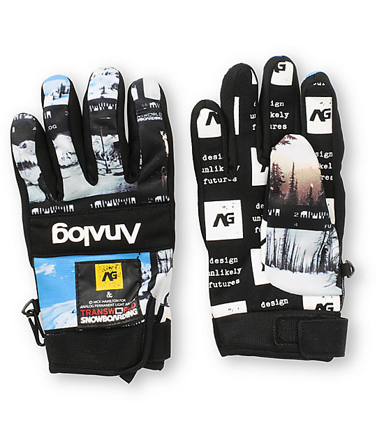 Analog Avatar PLA Print Pipe Snowboard Gloves