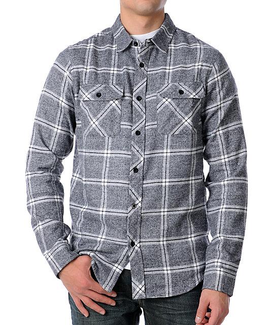 Analog Avenue Gunmetal Grey Woven Flannel Shirt