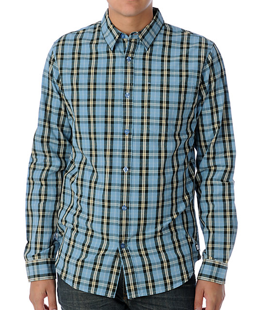 Analog Banks Blue Woven Shirt