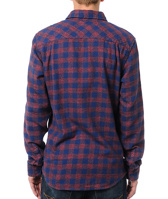 Analog Brooks Long Sleeve Red Flannel Shirt
