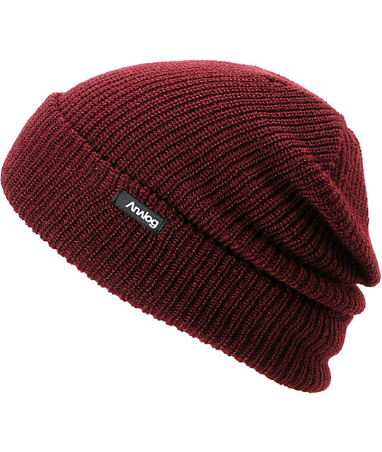 Analog Burglar Knit Deep Red Beanie