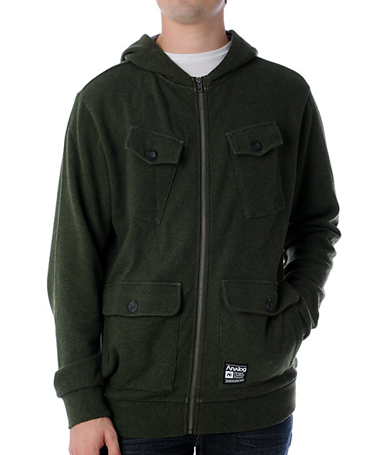 Analog Commander Army Green Fleece