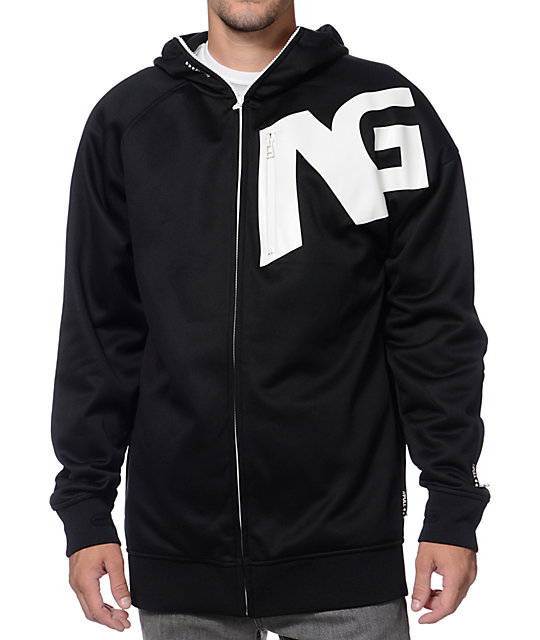 Analog Comply Black Zip Up Tech Fleece Jacket