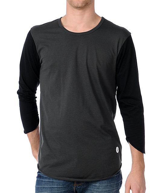 Analog Dylan Green & Black Baseball T-Shirt