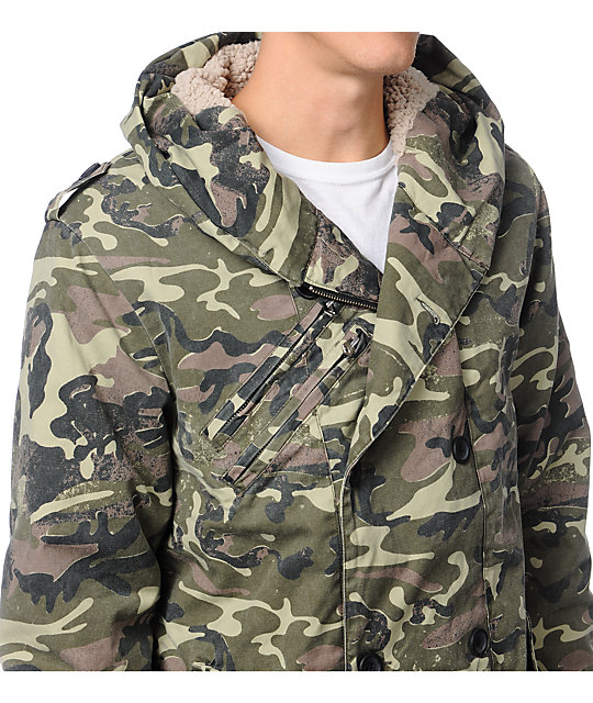 Analog Freeman Camo Canvas Jacket