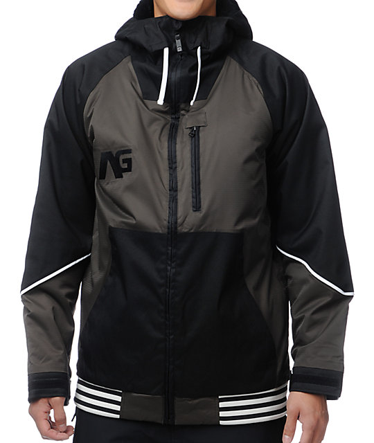 Analog Greed Black & Off Black 10K Snowboard Jacket