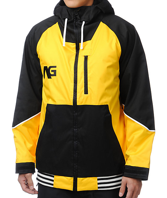 Analog Greed Corp Yellow & Black 10K Snowboard Jacket