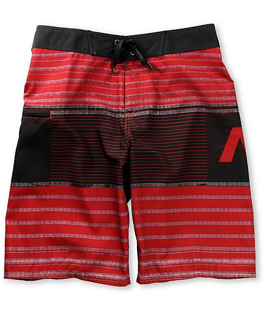 Analog Lock Down Red Board Shorts