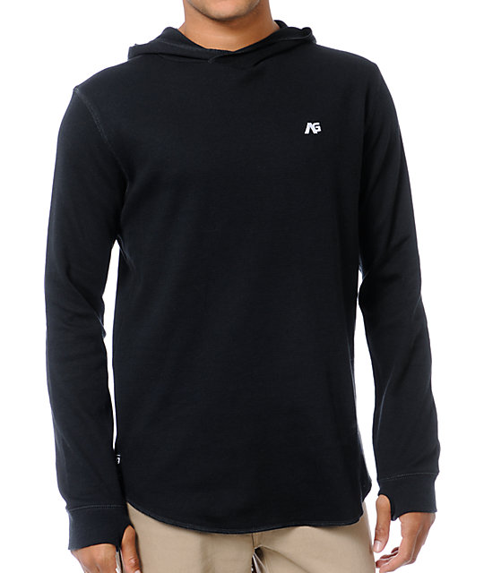 Analog Overlay ATF Black Thermal Knit Hoodie