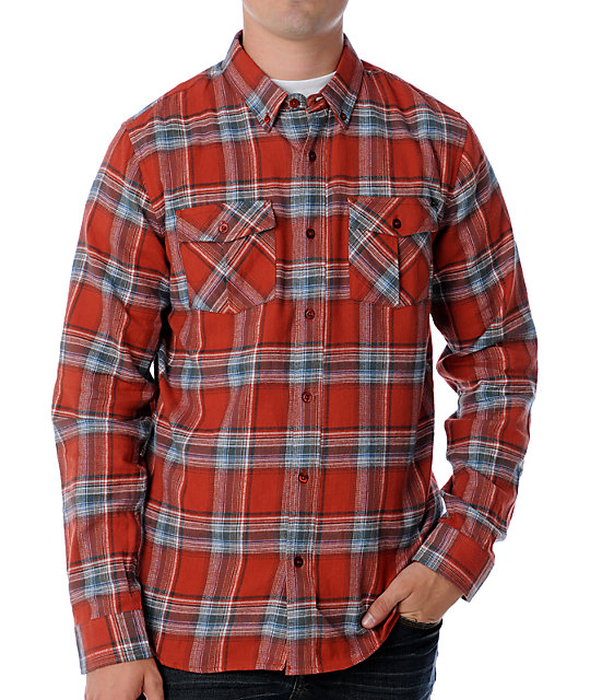Analog Ozone Red Woven Shirt