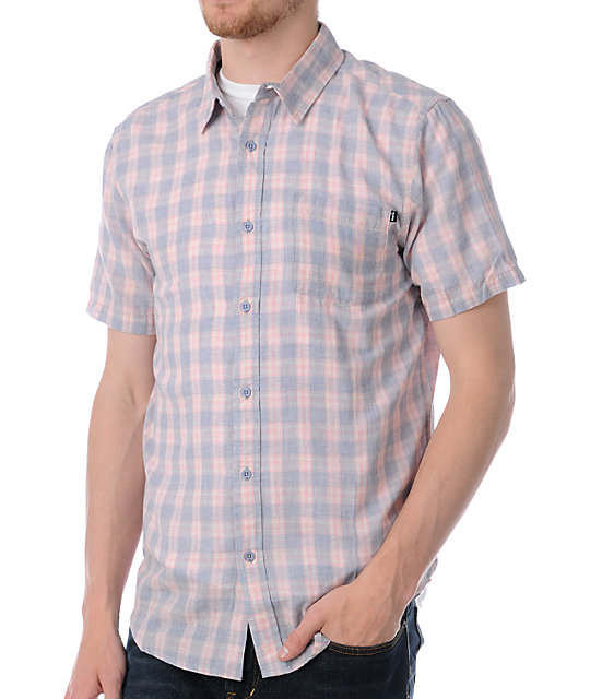Analog Ramos Blue Short Sleeve Button Up Shirt