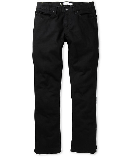 Analog Remer Ink Black Slim Regular Fit Jeans