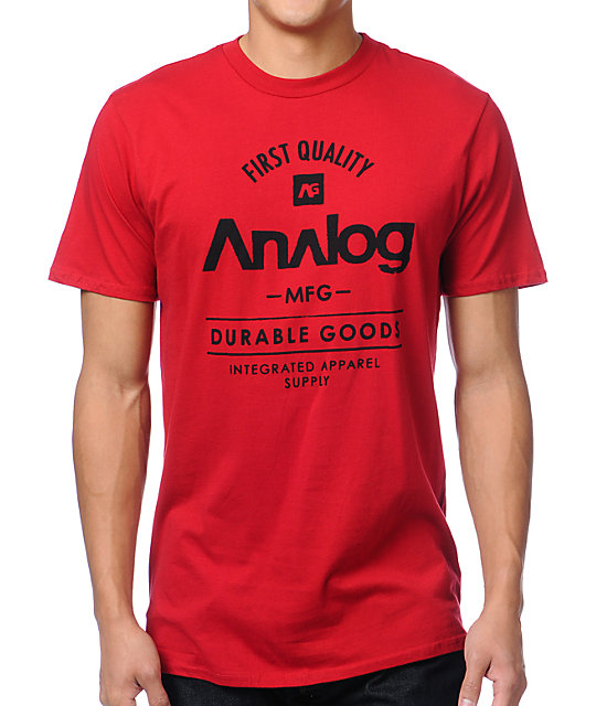 Analog The Goods Dark Red T-Shirt