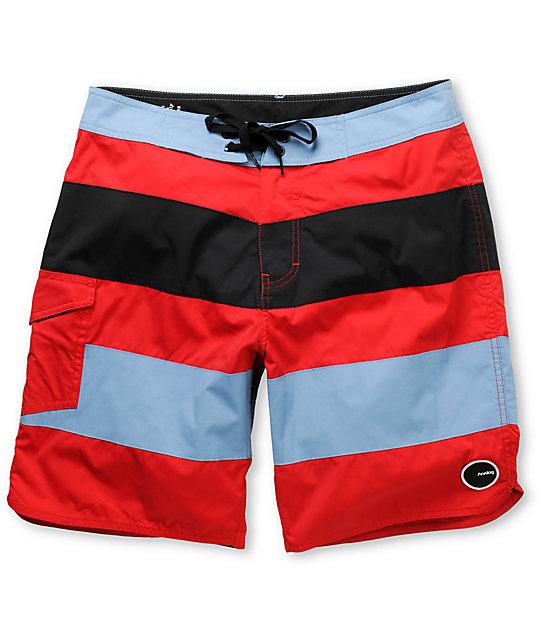 Analog Uno 19 Striped Board Shorts