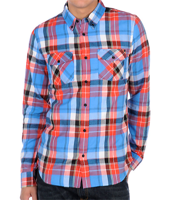 Analog Uptown Blue Flannel Shirt
