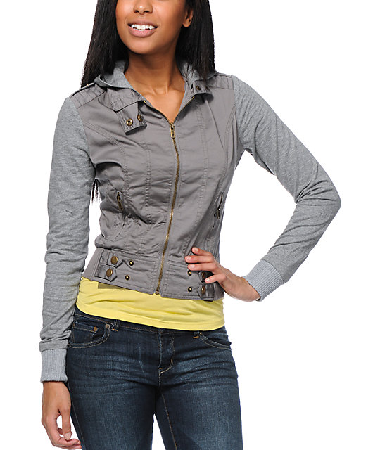 Angel Kiss Grey Lightweight Canvas Jacket