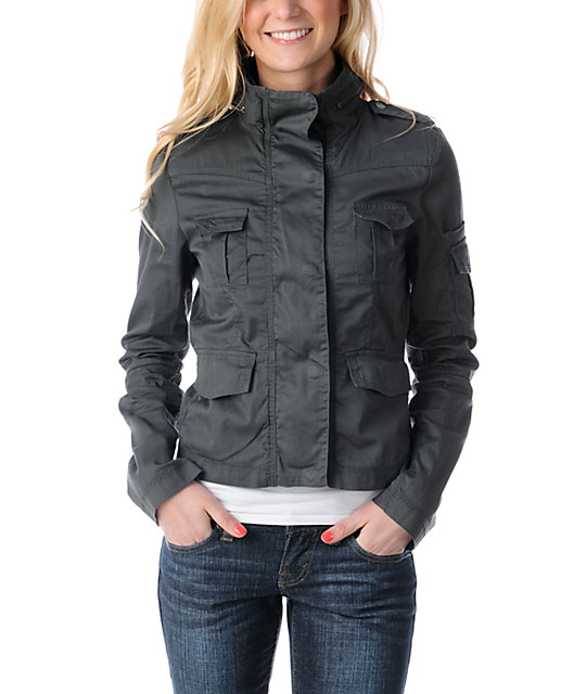 Angel Kiss Grey Military Jacket at Zumiez : PDP