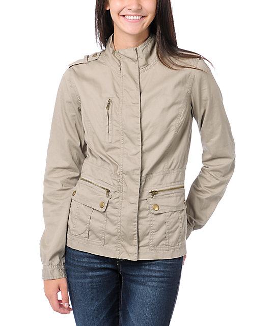 Angel Kiss Khaki Lightweight Military Jacket