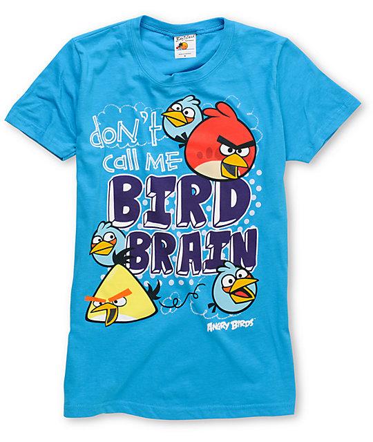 Angry Birds Bird Brain Turquoise T-Shirt