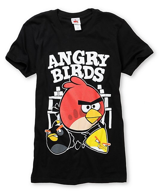 Angry Birds Fighters 2 Black T-Shirt