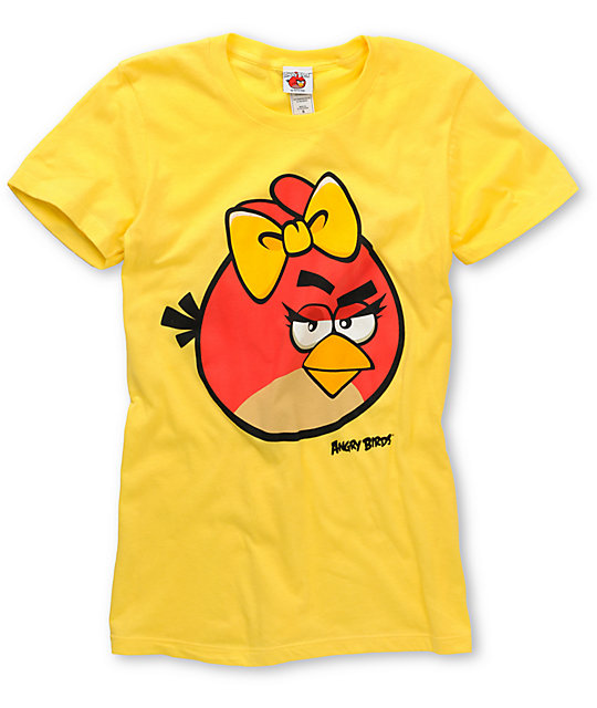 Angry Birds Im Pretty Yellow T-Shirt