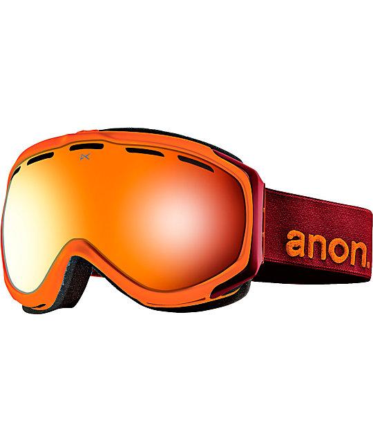 Anon Hawkeye Chili & Red Solex Snowboard Goggles