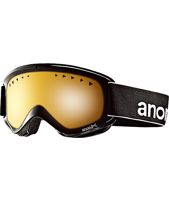 Anon Helix Black & Amber Snowboard Goggles