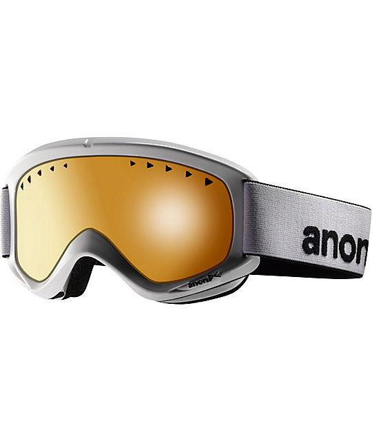 Anon Helix White & Amber Snowboard Goggles