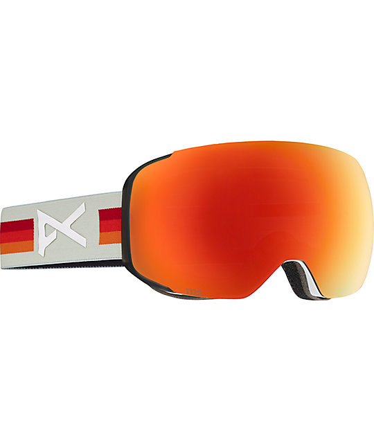 Anon M2 VHS Red Solex Snowboard Goggles