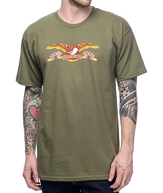 Anti Hero Eagle Military Green T-Shirt