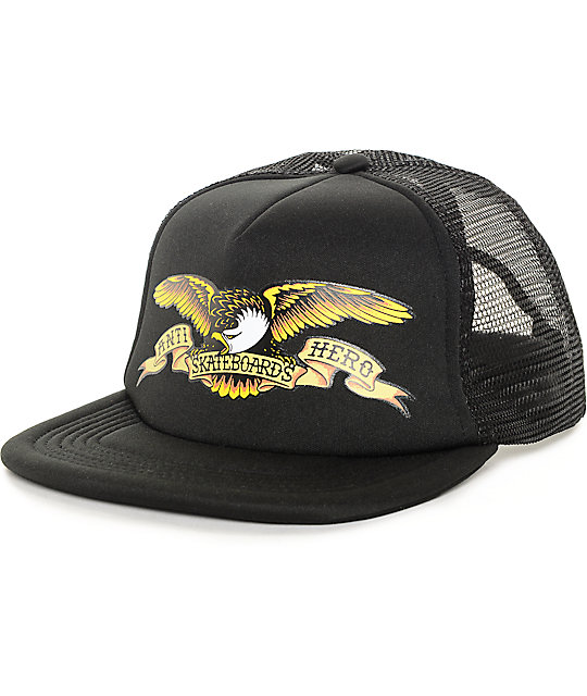 Anti Hero Printed Eagle Black Trucker Hat