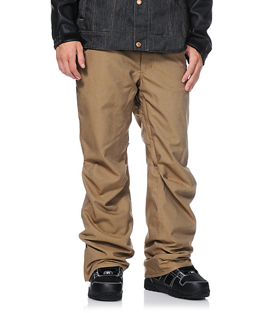 Aperture 5 Pocket Khaki 10k Mens Snowboard Pants