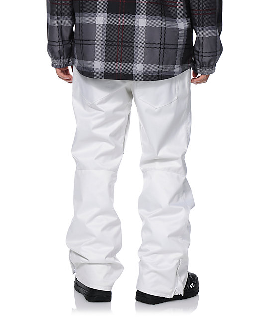 Aperture 5 Pocket White Denim Snowboard Pants