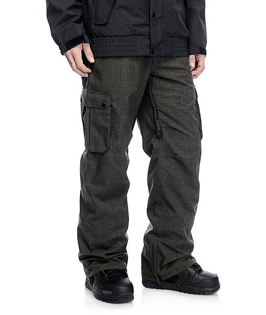 Aperture Alive 10K Dark Green Cargo Snowboard Pants